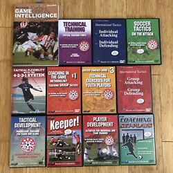 Lot Of 15 Soccer Training Dvds And 1 Book Developmg Game Intelligence By Wein