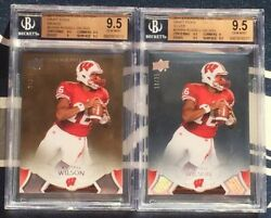 Russell Wilson 2 2011 Exquisite Draft Picks Silver /35 And Bronze /99 Bgs 9.5