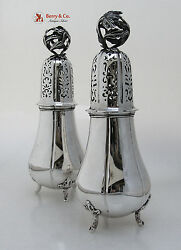 Dutch First Standard Large Ornate Sugar Shakers Sterling Silver
