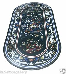 3and039x2and039 Marble Dining Table Top Precious Floral And Birds Inlay Living Decors H930