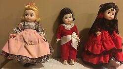 Madame Alexander Doll 8 Mary Mary ,red Boy And Spain 3 Dolls