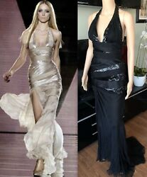 $20905 VERSACE RUNWAY SEXY EMBELLISHED DRESS GOWN ICONIC!!!