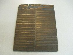 Antique Retail Printing Plate For Varsity Label Long Playing Vinyl Records Usa