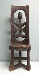 Incredible Large Antique Mossi Ceremonial Chair Burkina Faso Africa - 40