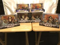 Star Wars Action Figures Jedi High Council Scene 1-4 And Scene 1-2 Complete Set