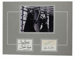 Star Wars Vader Obi Wan Prowse, Jones, Guinness Signed 12x18 Matted Display