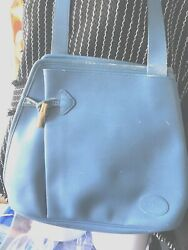Longchamp authentic blue hobo  bucket bag  some leather wear rare