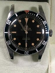 VINTAGE Rolex Submariner 5508 All Original Parts Great Working Condition