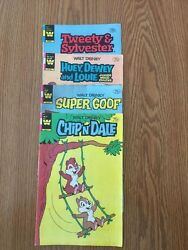 Whitman Tweety And Sylvester Chip N Dale Super Goof And Huey Rare 75 Cent Copies