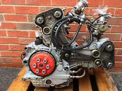 Ducati 996 Engine 2004 17k Miles Complete Carbon Covers Injectors Clutch Starter