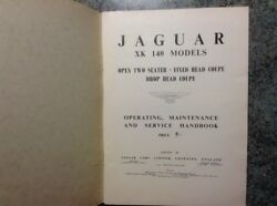Jaguar Xk140 Owners Handbook And Maitenance With Chart. Origianal Vgc 1950and039s