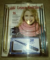 Learn Knitting Kit Susan Bates New Needles Cable Stitch Needles Patterns New Pkg