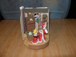House Of Lloyd Christmas In The Attic Light Up Animated Musical Decoration 1991