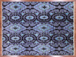 7' 10 X 10' 4 Hand Knotted Ikat Area Rug - P5970