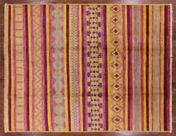 9and039 1 X 11and039 7 Navajo Moroccan Hand Knotted Wool Rug - P6206