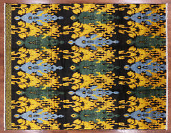 8' 2 X 10' 5 Hand Knotted Ikat Area Rug - P6241