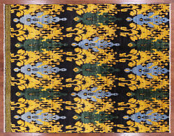 7' 10 X 10' 0 Ikat Hand Knotted Area Rug - P6256