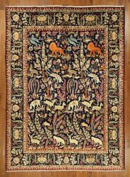 New King of The Jungle Design 10'x13' Authentic Hand Knotted Persian Rug GZT419
