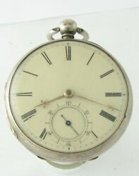 Rare Silver Chain Fusee Lever Mancaster Of Isle Of Man Pocket Watch 1862