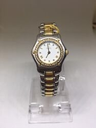 Ebel 1911 190910 Two-tone 18k Gold Bezel Stainless Steel Watch Free Shipping