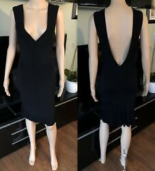 Vintage Azzedine Alaia Sexy Fitted Open Back Dress Size S