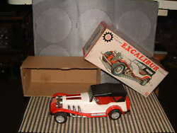 Bandai Tin And Plastic Rare Excalibur Car W/auto Reverse And Box Fully Working Too