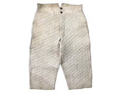 Vtg 40's French Quilted Sashiko Metal Buttons Fencing Knickerbockers Capri Pants