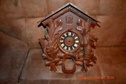 Vintage 8 Day Heco Cuckoo Clock Box Only For Parts