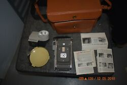 Vintage Polaroid Instant Land Camera With Case & Manual