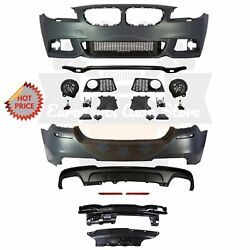 Bmw F10 Msport Style Front And Rear Performance Bumper For 11-13 Bmw 550i No Pdc