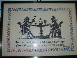 To Food And Drink Add Some Gay Jest, You Will Always Be A Welcome Guest Antique