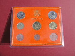 Official Rare Vatican Set Of 8 Coins Euro 2016 Pope Francis