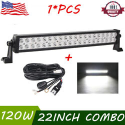 22inch 120w Philips Combo Led Light Bar Offroad Driving 4wd Atv Boat+wiring Kit