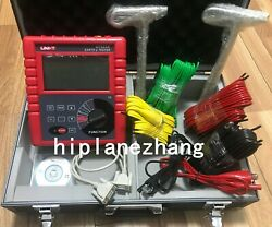 2/3/4 Pole Earth Resistance Voltage Soil Resistivity Tester Meter Rs232 Ut523a