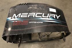 Mercury Outboard Engine Cowl Top Hood Cover 4021-827328 135 Hp V6 Offshore