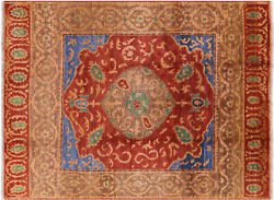 Hand-knotted Ikat Wool Area Rug 9' 1 X 12' 3 - P6199