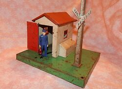 1940s Lionel Train Crossing Guard House,train Station,metal, Collectibles
