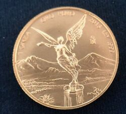2013 Uncirculated Mexico 1oz .999 Gold Libertad Round Ultra Low Mintage Of 2350