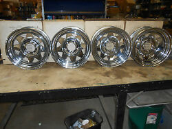 14x 6 Vintage Nos Rocket Trail Duster Chrome Rim Wheel 81-4336