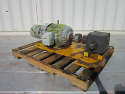 Westinghouse Ac Motor 10hp 1160rpm 3ph 460v With Stearns Brake And Gear Box
