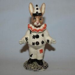 Royal Doulton Bunnykins Ltd Ed Uk Made Db128 Clown Red Ruff And Patch 750 Only