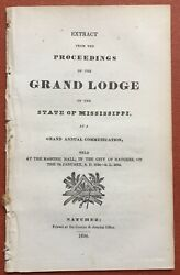 Freemasons / Extract From The Proceedings Of The Grand Lodge Of The State