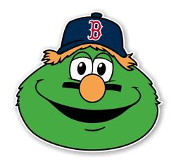 Boston Red Sox Wally the Green Monster Precision Cut Decal Sticker