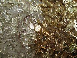 2000 Milagros Gold And Silver Color Mexican Folk Art Charms Wholesale 5 Pounds