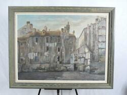 Aldo BRESSANUTTI Italian Rustic Ruin VILLAGE Scene Oil Painting on Canvas