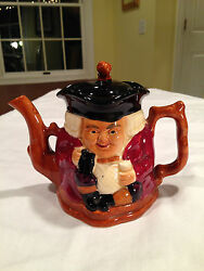 Antique Early 1900s Royal Crown Derby Shorter And Sons Figural Toby Style Teapot