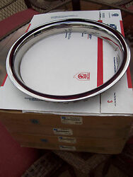 4 Nos New Gm Chevy Chevrolet 14 Polished Stainless Steel Rally Wheel Trim Rings