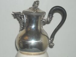 sterling 6 Tea Teapot Coffee Pot Syrup Pitcher  Armorial Beautiful French