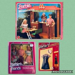 Barbie Ken And P.j. Loves Mc Donaldand039s + Playset And Outfit 1982 Nrfb