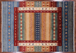 Gabbeh Tribal Hand Knotted Wool Area Rug 7and039 0 X 9and039 11 - P10003